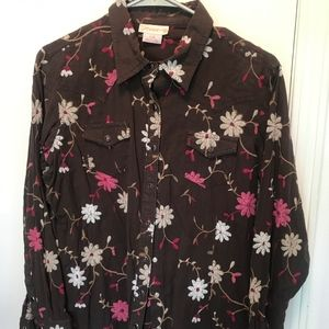 L - Ariat - Pearl Snap Embroidered Shirt